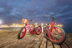 Electric beach bike tour